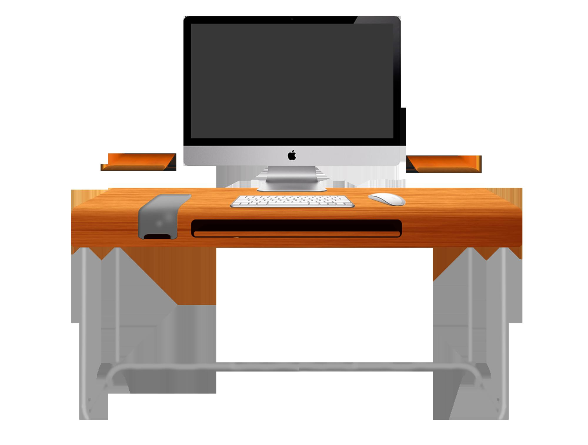 Desk clipart computer Computer shape Hides desk executive