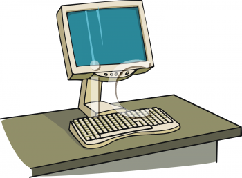 Desk clipart computer Clipart a On Picture of