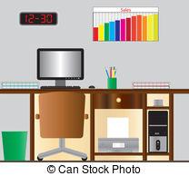 Desk clipart computer 618  Computer Art Office