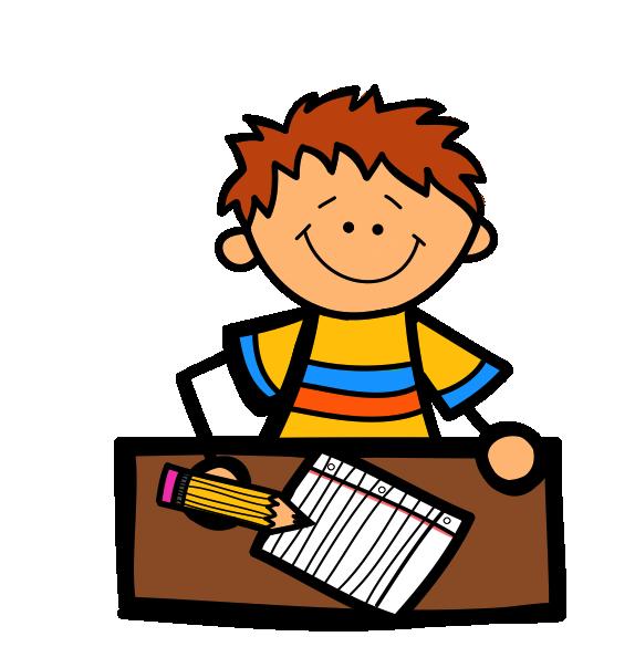 Desk clipart creative writing Boy com Clip Clipart Writing