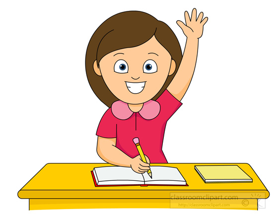 Desk clipart cute student Girl Clipartion Cute and clipart