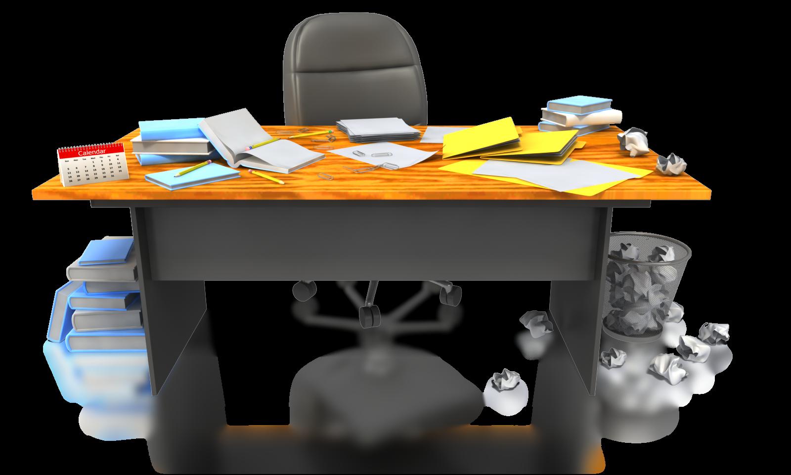 Desk clipart disorganized  Disorganized Clipart
