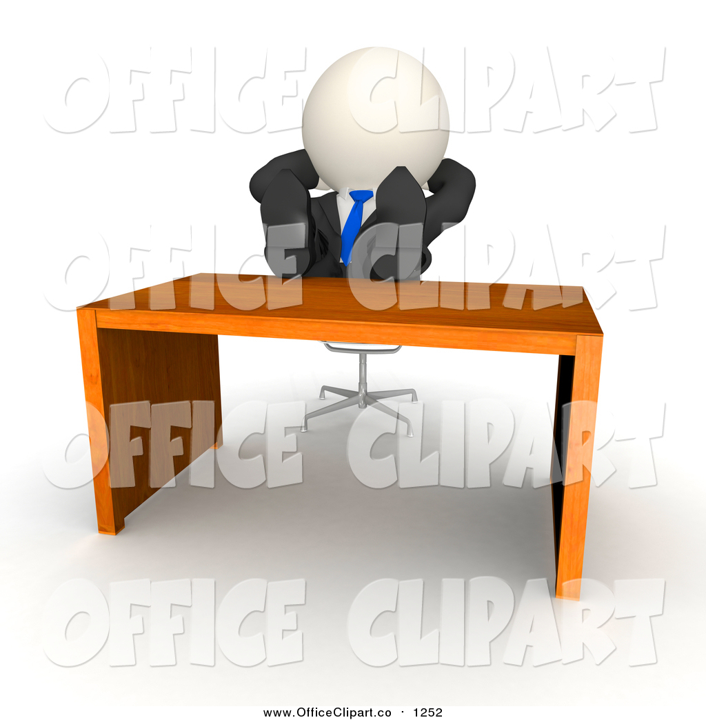 Desk clipart disorganized Royalty Lazy & up Vector