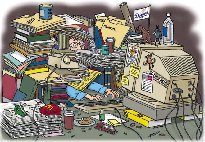 Desk clipart disorganized Organizing The Disorganized Messy –