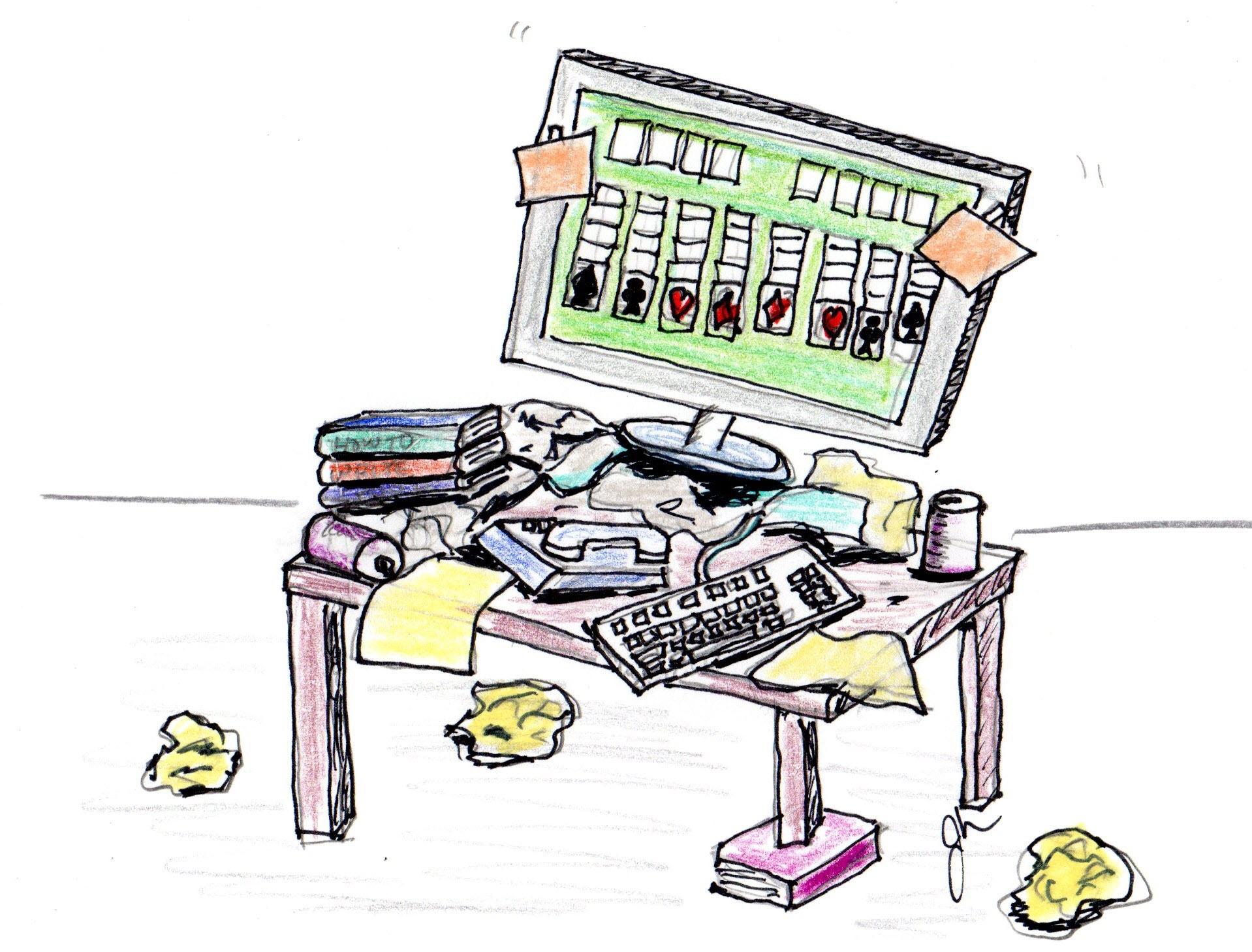 Desk clipart disorganized Disorganized Download Clip Clip Art