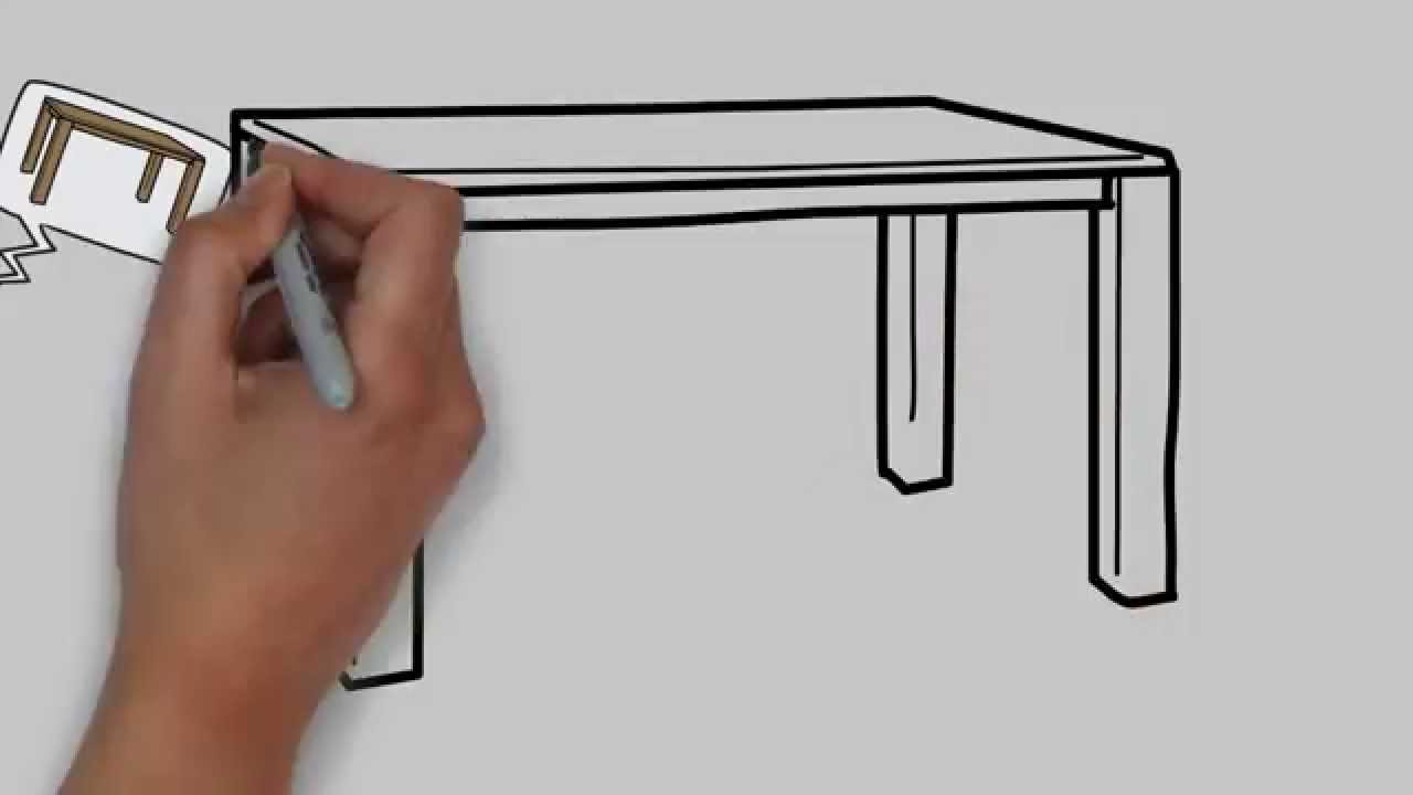 Desk clipart draw Step for table by kids