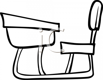 Desk clipart draw School And And Chair Chair