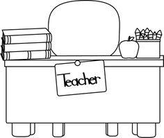 Desk clipart fyi Clip Desk White Art Teacher's