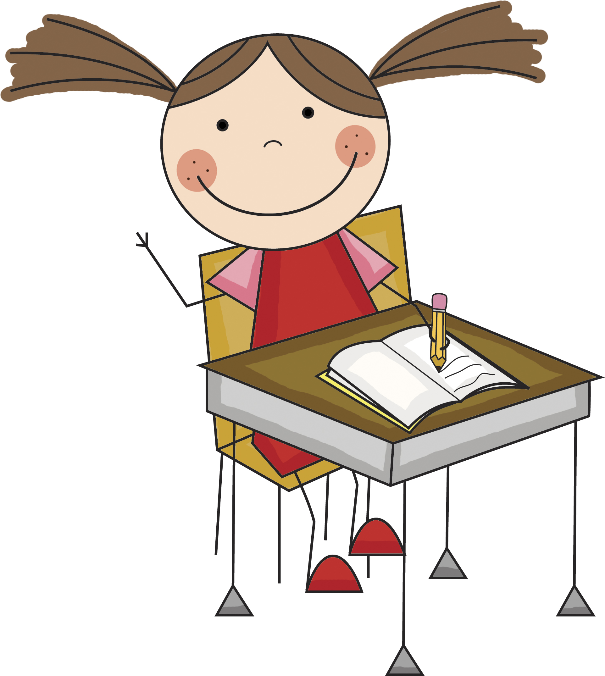 Desk clipart independent work Art Writing Student Cliparts Cliparts