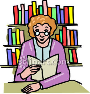 Desk clipart librarian Free Librarian a Clipart At