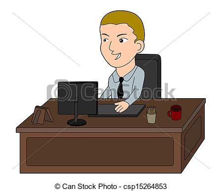 Desk clipart man at Clipart Man Working Working Download