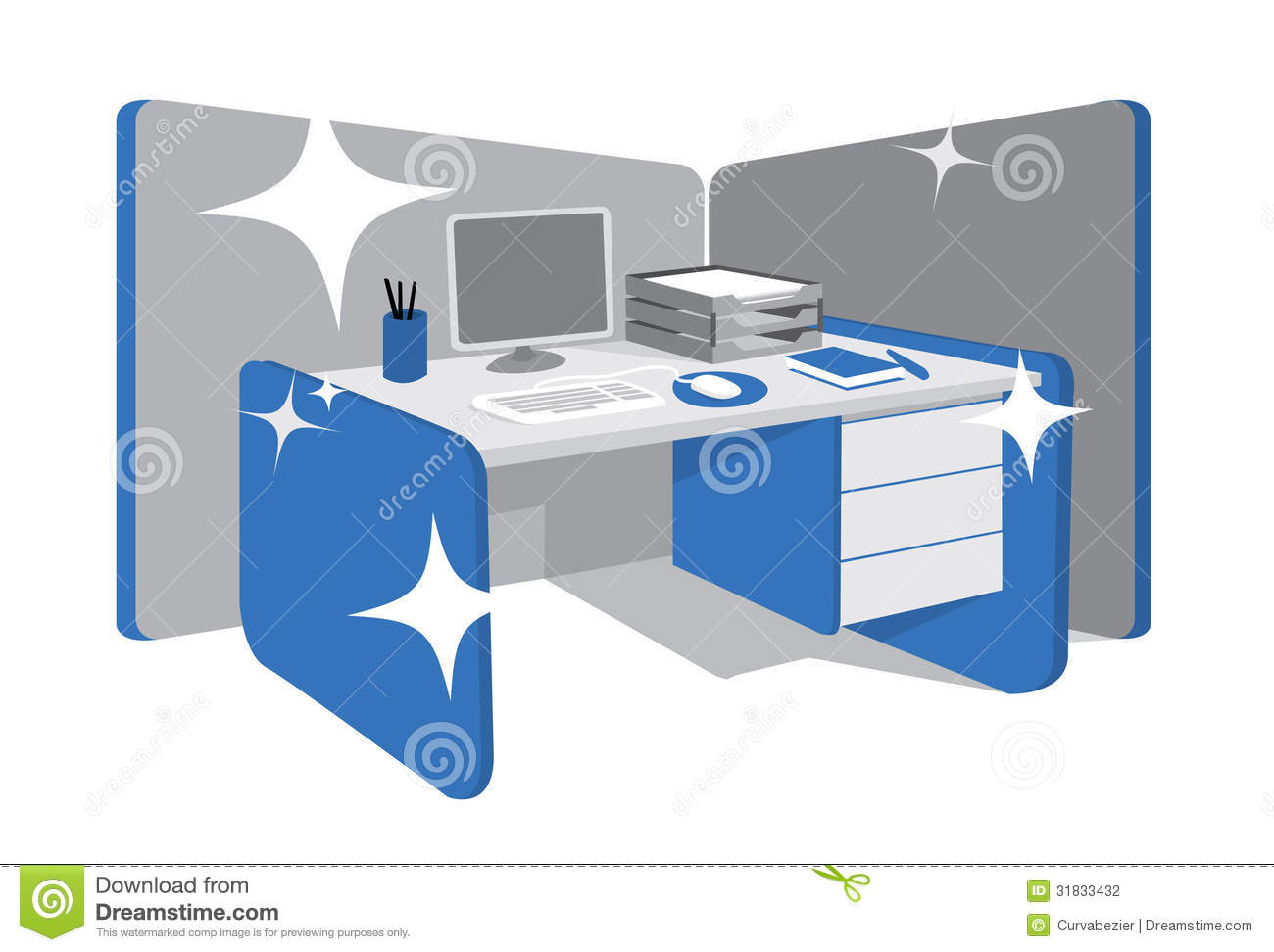 Scotch clipart office desk #15
