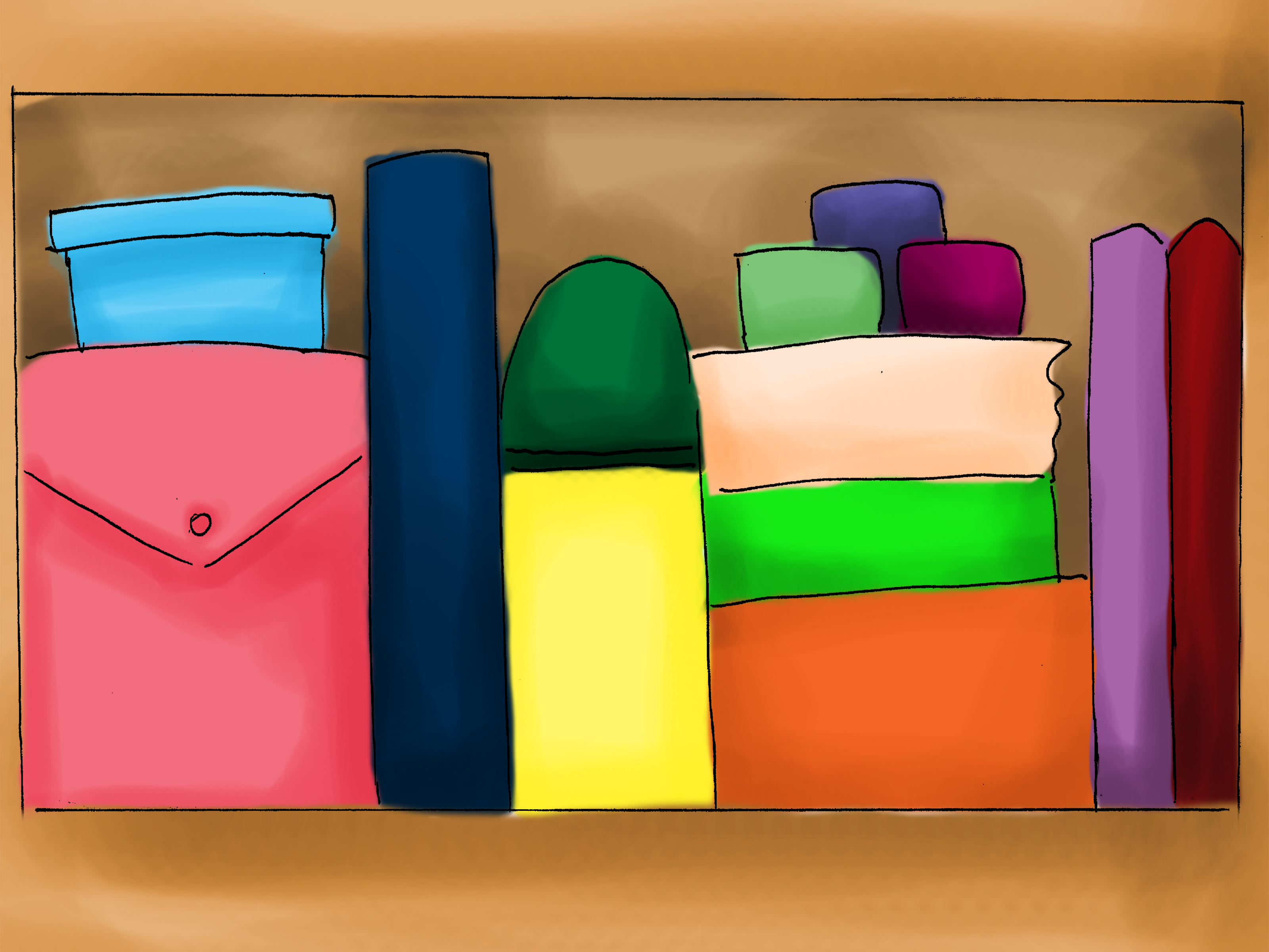 Desk clipart organised Clipart Free File Home Organization