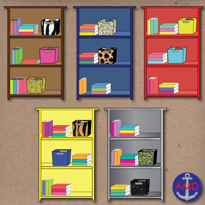 Desk clipart organised Organized Bins Books Clip Organized