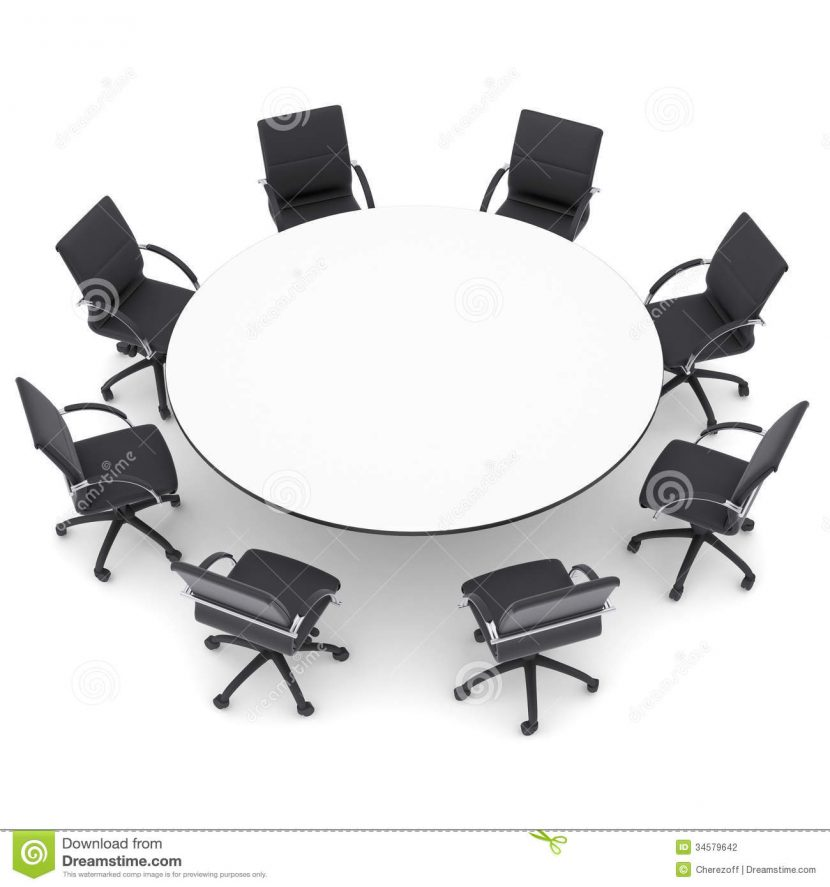 Desk clipart round Round  Table and in