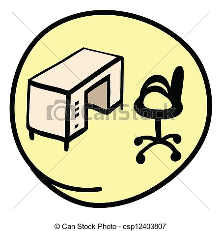 Desk clipart round Round Office Yell Chair Office