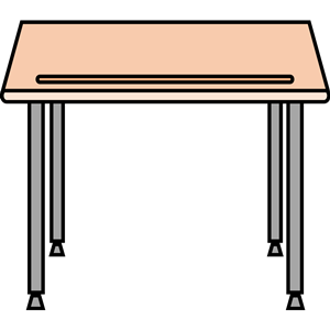 Desk clipart school table  school desk free school