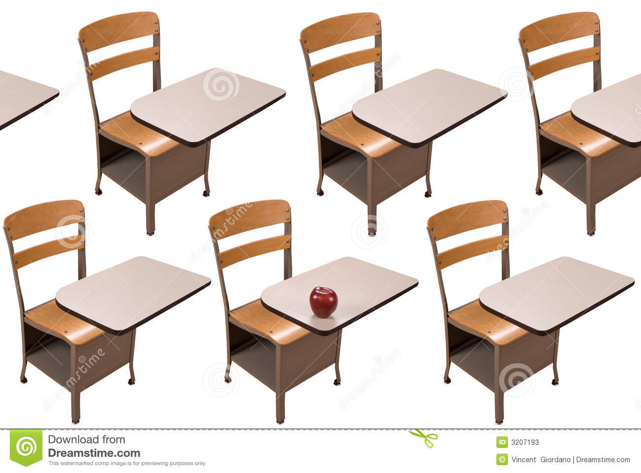 Desk clipart school table Desk One For And Rows