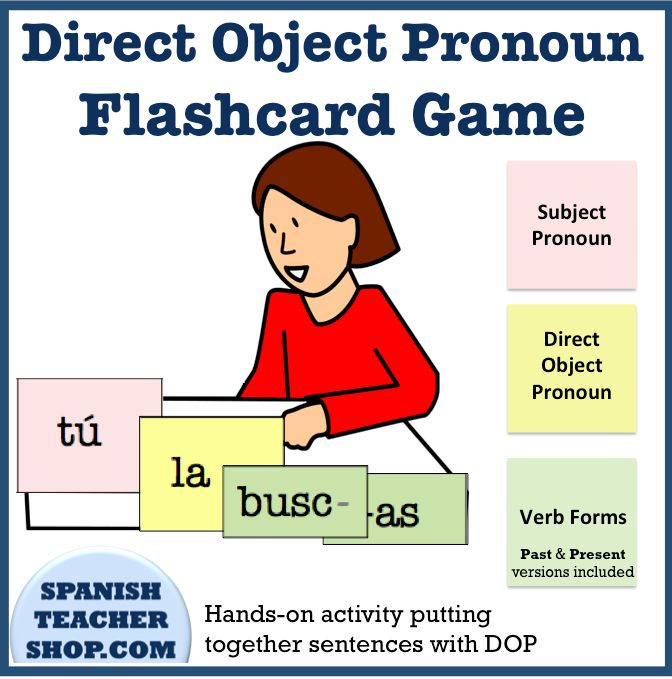 Desk clipart spanish teacher Spanish move on pronouns activity