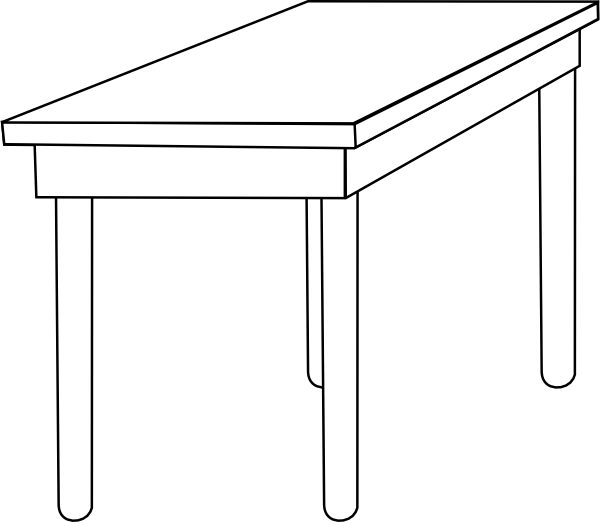 Desk clipart square table At com Art vector this