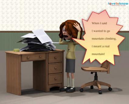 Desk clipart stressed teacher Stress Free Cartoons Paperwork Stress