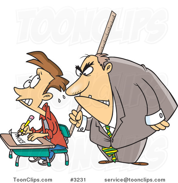 Desk clipart stressed teacher An Cartoons Taking Teachers Stressed