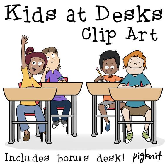 Desk clipart teacher room Kids Clip School Art Older
