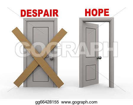 Despair clipart choice Of hope Stock gg66428155 and