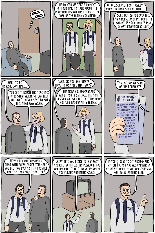 Despair clipart choice Comics Existentialism to Door Existential