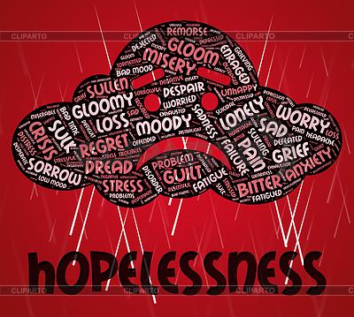 Despair clipart misery EPS Stock Despair Meaning CLIPARTO
