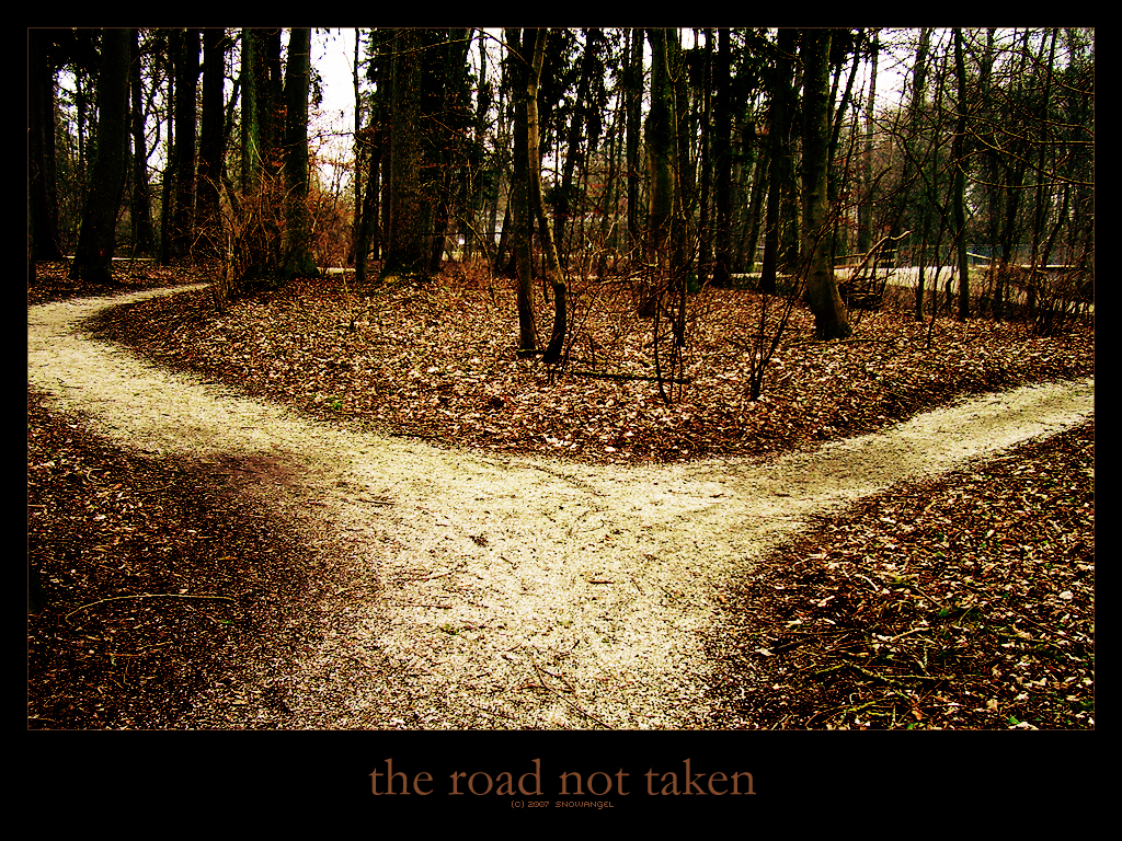 Despair clipart the road not taken I'll Lonely Goatherd The 2011