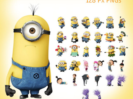 Despicable Me clipart white background 2 Cartoon 128 icons icons