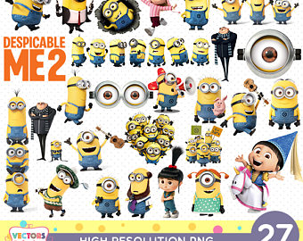Despicable Me clipart printable Birthday Etsy Despicable Party Decoration