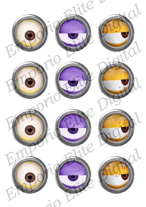 Despicable Me clipart printable Cupcakes on INSTANT 91 Circle