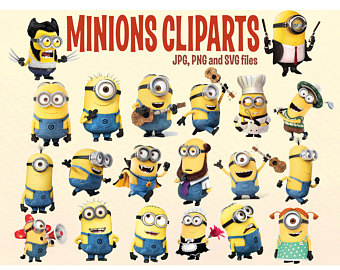 Despicable Me clipart printable Minions 20 clipart Stickers Me