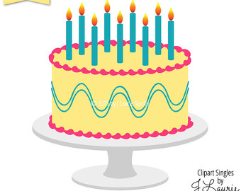 Yellow clipart birthday cake Clipart Celebrate Cake images Bakery