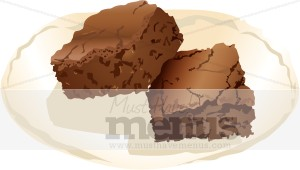 Brownie clipart plate Dessert Brownie Images Brownie Clipart