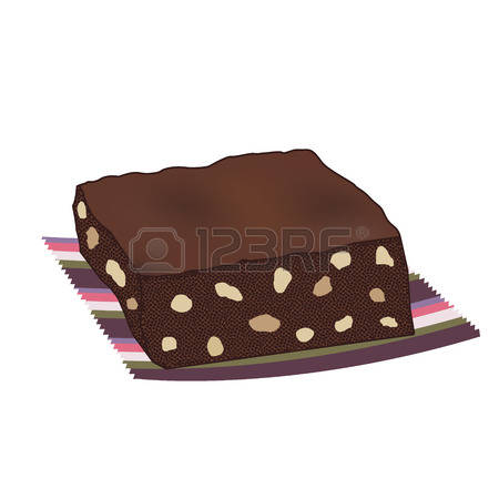 Brownie clipart chocolate brownie Stock Clip Girl Clipart Brownie
