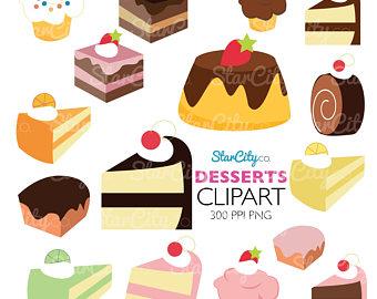 Pies clipart bake sale Dessert Clipart Pie graphics Etsy