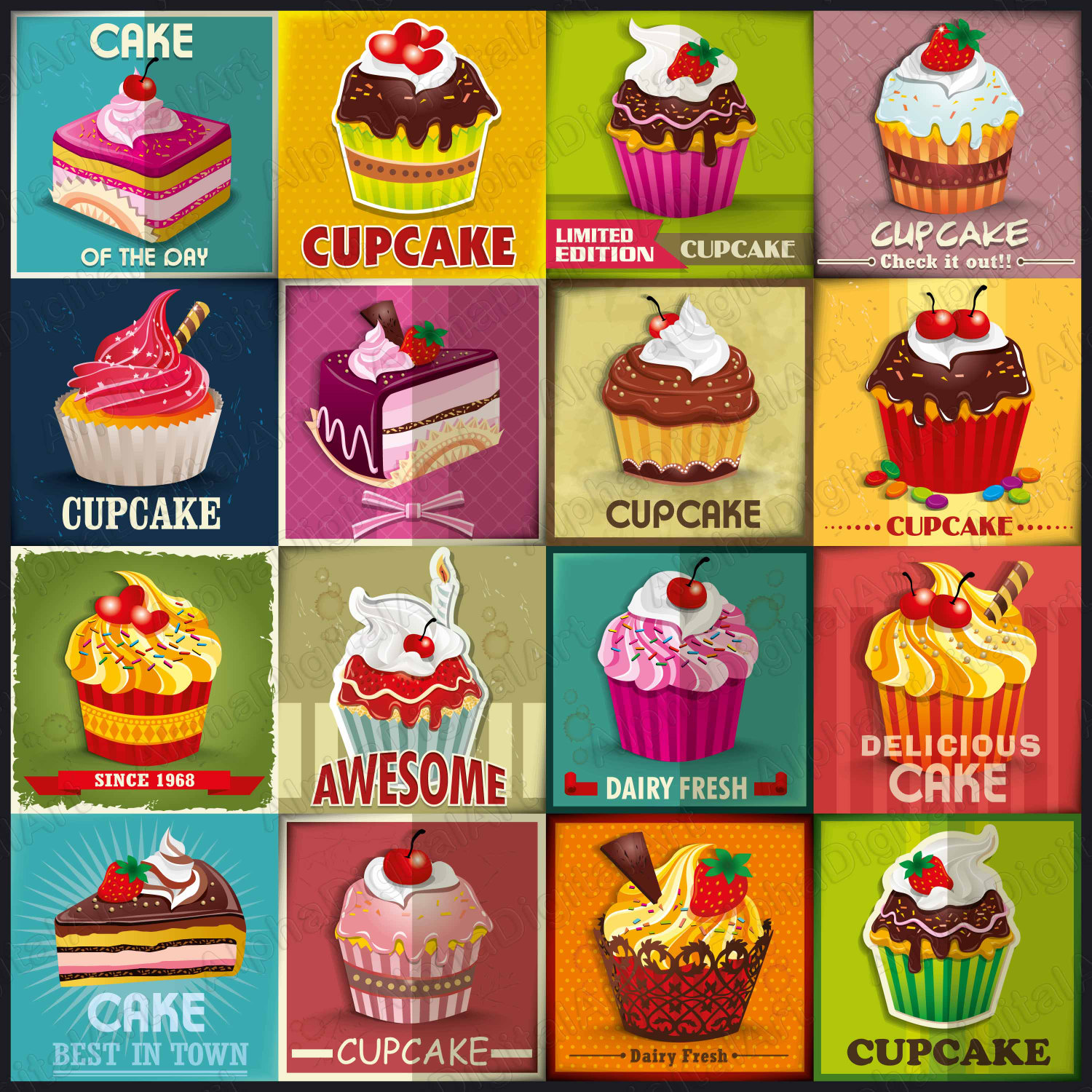 Pie clipart dessert Clipart a food digital 16