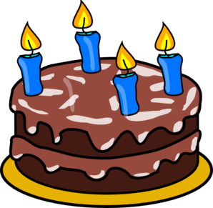Candle clipart cake candle Birthday Four Birthday Candles at