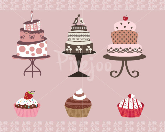Wedding Cake clipart cute cake Cakes Cakes Cake Cupcakes and