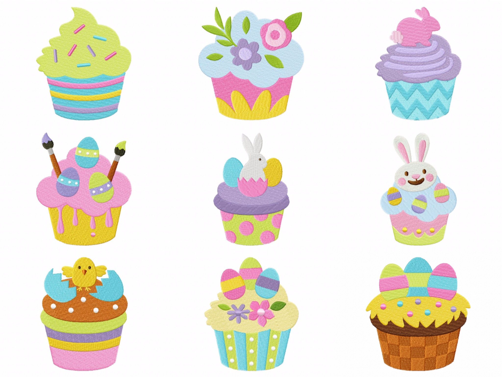 Vanilla Cupcake clipart easter cupcake Deal Easter Cupcakes Set of