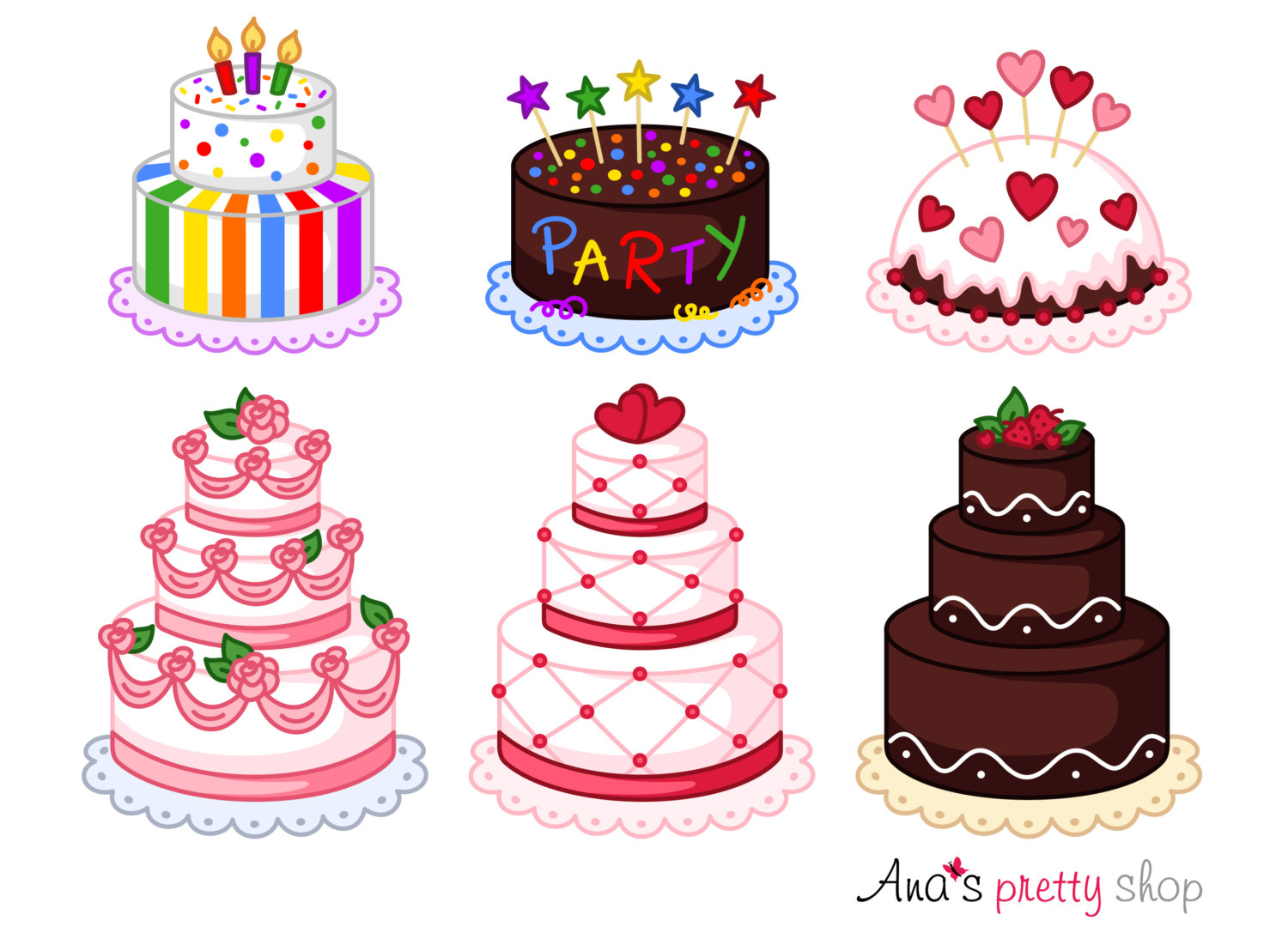 Pastry clipart baked goods Clipart file clipart Cake wedding