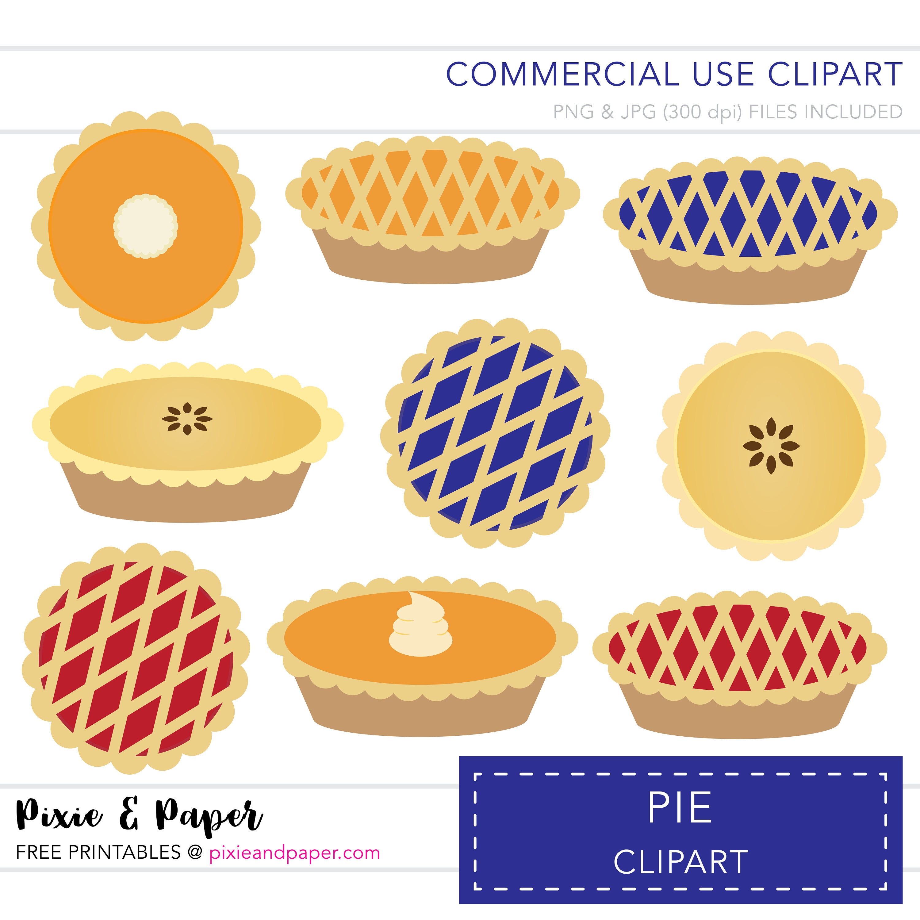 Pie clipart dessert Use a Commercial digital Clipart