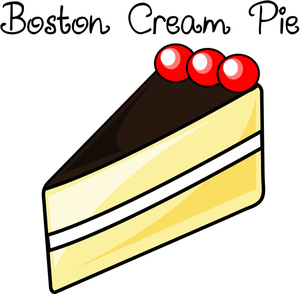 Pie clipart dessert Image Boston Animated Cream sliced