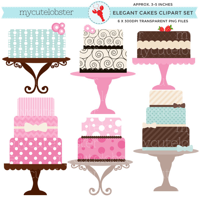 Cake clipart small cake  file This art is