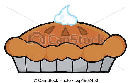 Drawn pie watercolor Of Fresh Pumpkin Clipart Pie