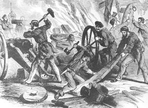 Destruction clipart black and white At Confederate Art Guns Clip