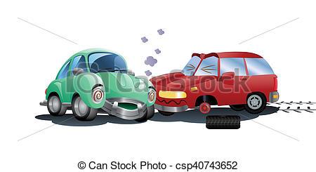Destruction clipart car crash Crash destroyed Illustrations car
